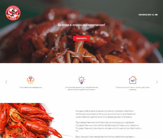 Создание сайта для компании ООО «АКВА АРМ-ЮА»